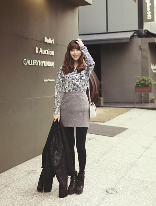 Dạo phố trendy với váy len ngọt ngào  18