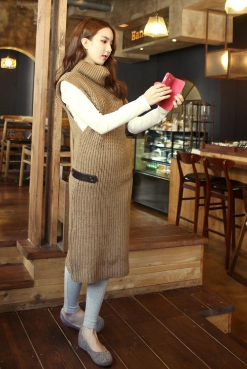 Dạo phố trendy với váy len ngọt ngào  5