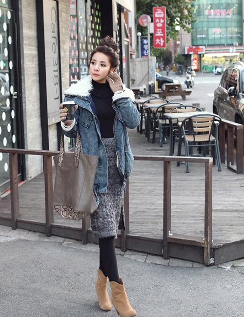 Dạo phố trendy với váy len ngọt ngào  10