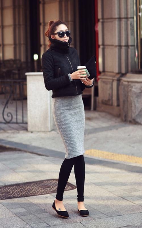Dạo phố trendy với váy len ngọt ngào  13