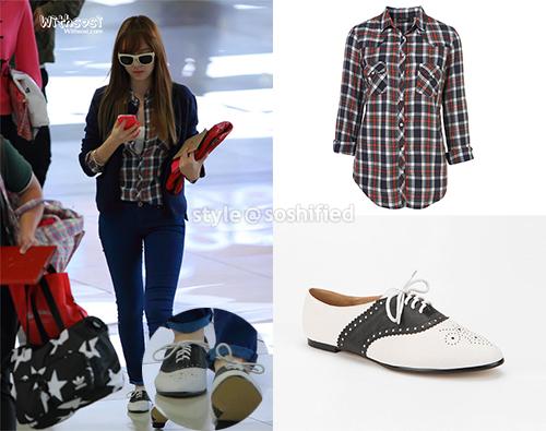 101 kiểu phối đồ cùng giày đế bệt phong cách như Jessica - SNSD 1