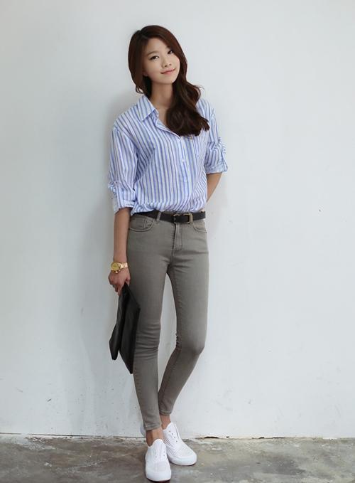 101 kiểu phối đồ cùng giày đế bệt phong cách như Jessica - SNSD 19