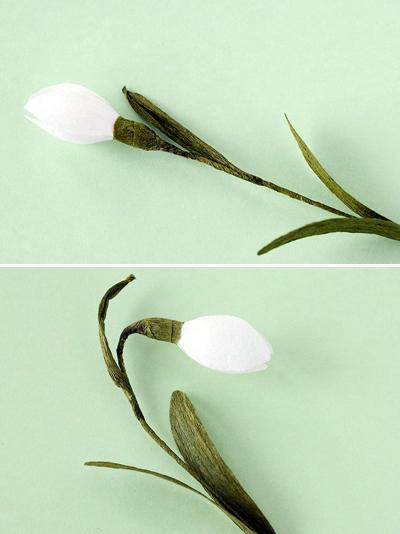 Cắt giấy làm hoa giọt tuyết xinh như hoa thật 7