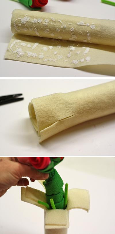 10' có ngay bình hoa vải dạ cho bạn không khéo tay 7