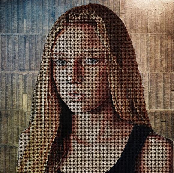 Tròn mắt với những bức chân dung và tác phẩm nghệ thuật được làm từ ốc vít 8