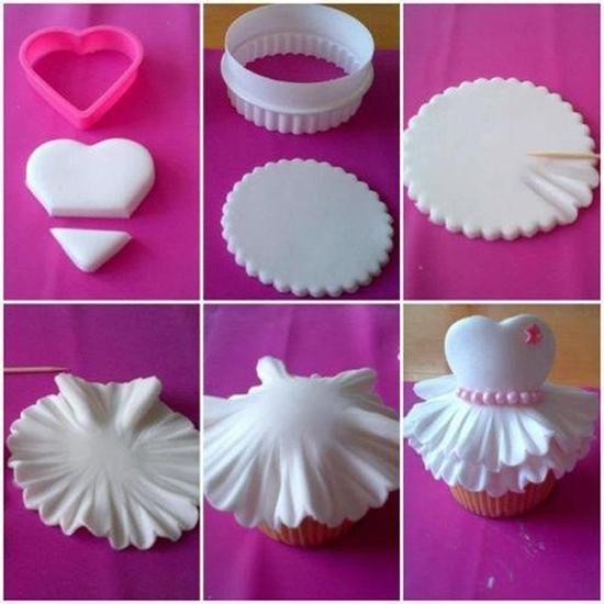 Những cách trang trí cupcake độc đáo từ fondant 3