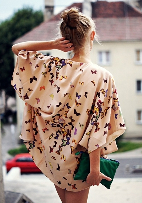 Áo khoác kimono - Xu hướng áo bay bổng, nhẹ bẫng của mùa hè 13