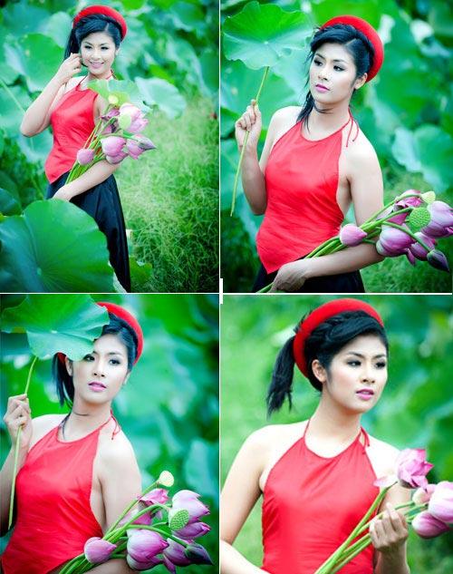 Muôn vẻ mỹ nhân Việt khoe sắc bên hoa sen 22