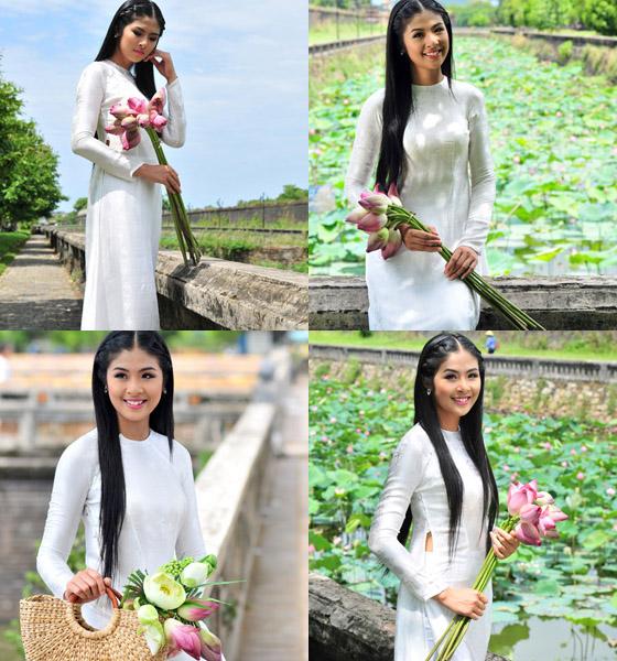 Muôn vẻ mỹ nhân Việt khoe sắc bên hoa sen 23