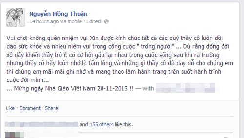 Sao Việt rộn ràng gửi lời tri ân thầy cô ngày 20/11 11