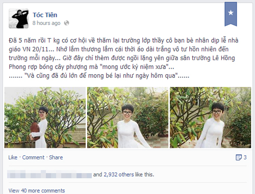Sao Việt rộn ràng gửi lời tri ân thầy cô ngày 20/11 2