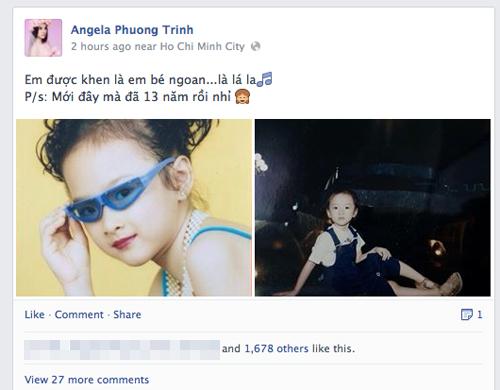 Angela Phương Trinh khoe ảnh sành điệu từ bé 1