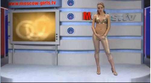 Sốc nặng với kênh truyền hình MC thoát y tại Nga 4
