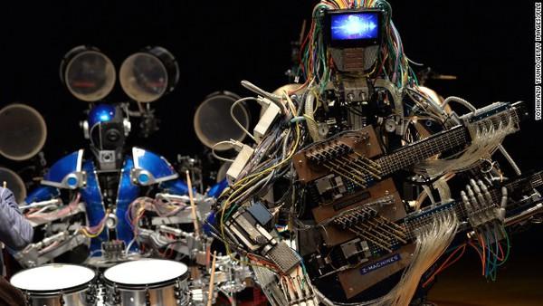 Gặp nhóm nhạc robot chơi rock cực ấn tượng 1