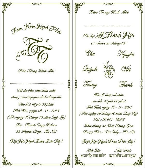 Soi loạt thiệp cưới từ đơn giản đến cầu kỳ của các cặp đôi nổi tiếng 11