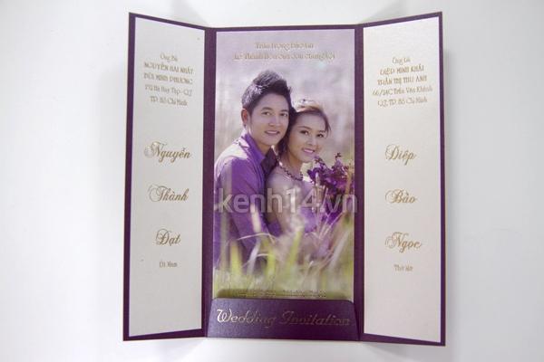 Soi loạt thiệp cưới từ đơn giản đến cầu kỳ của các cặp đôi nổi tiếng 5