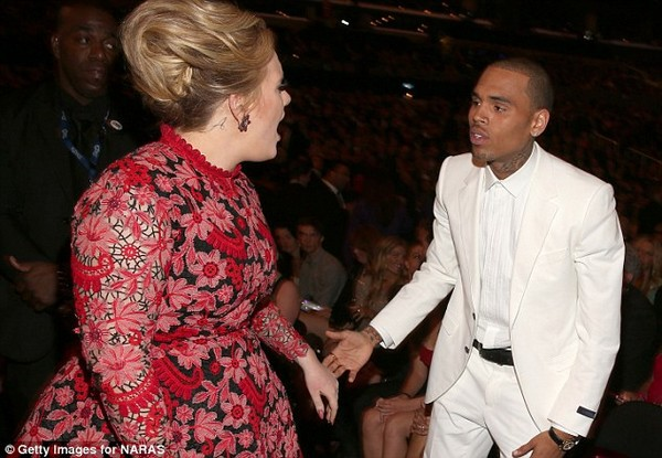 Chris Brown bị Adele mắng thẳng mặt vì xấu tính 2