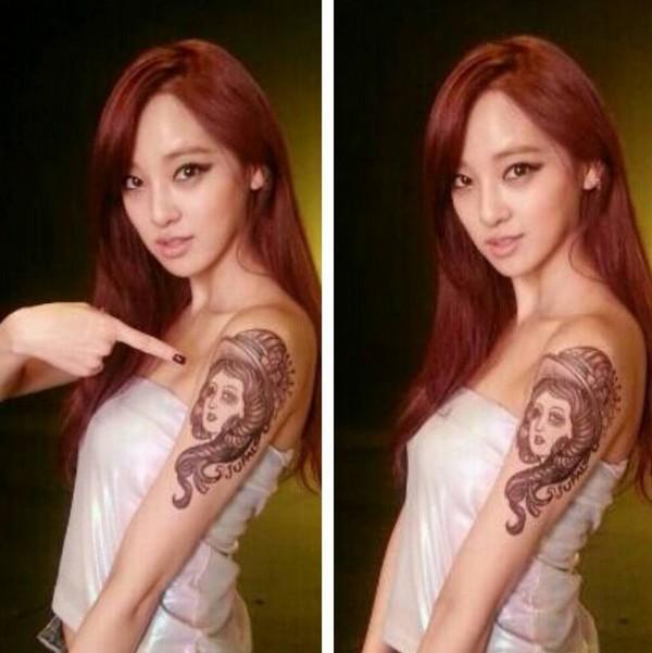 Sao Kpop chuộng vẽ vời trên cơ thể 25