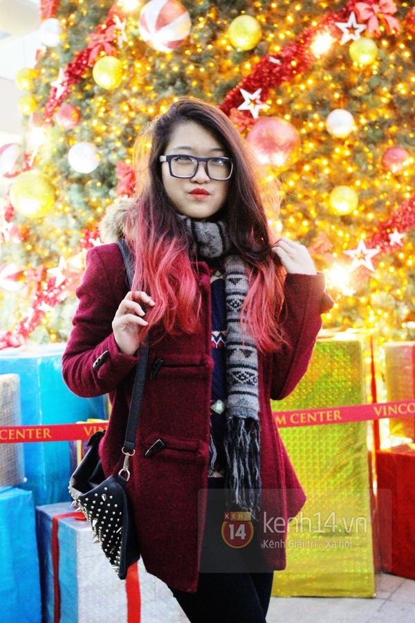 Sắc màu Giáng sinh tràn ngập street style giới trẻ Hà Nội 9