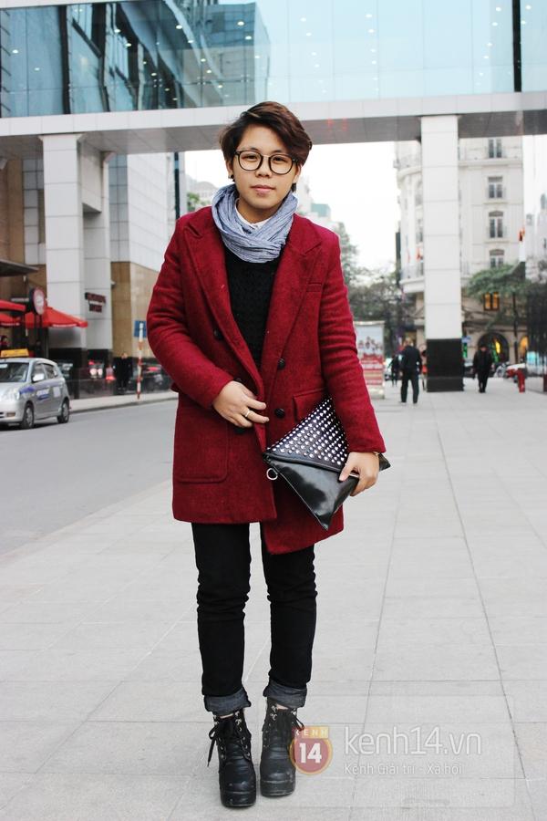 Sắc màu Giáng sinh tràn ngập street style giới trẻ Hà Nội 5