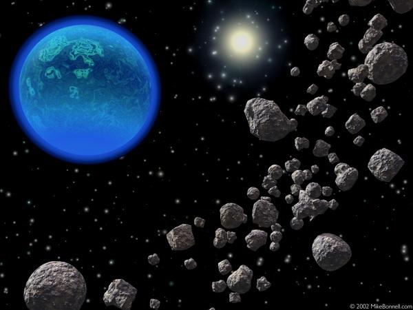 Bản đồ cho thấy Trái đất liên tục bị các thiên thạch tấn công 3