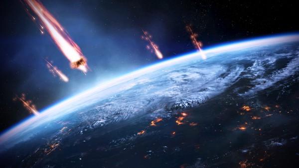 Bản đồ cho thấy Trái đất liên tục bị các thiên thạch tấn công 1