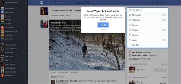 Săm soi giao diện mới cực ấn tượng của Facebook 1