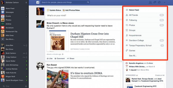 Săm soi giao diện mới cực ấn tượng của Facebook 6
