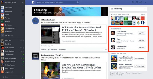 Săm soi giao diện mới cực ấn tượng của Facebook 9