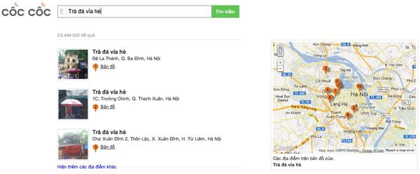 """Công cụ tìm kiếm Việt Cốc Cốc """"so găng"""" cùng đại gia Google 7"""