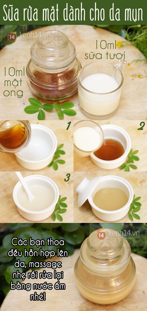 Sữa rửa mặt tự nhiên đặc chế cho da mụn 1