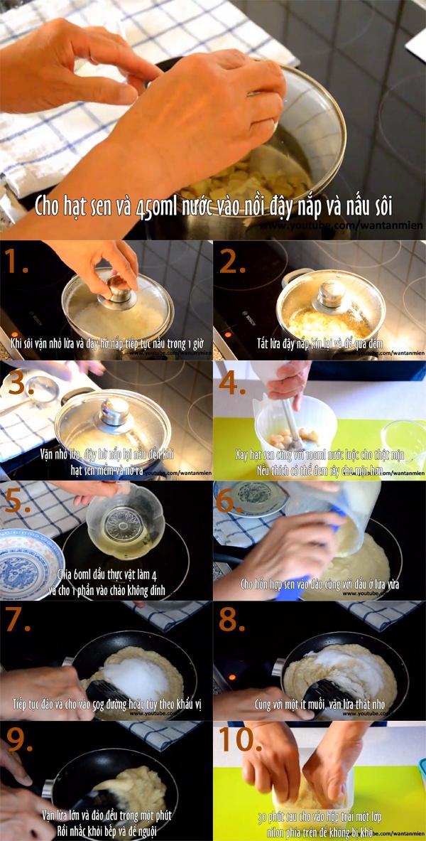 Chi tiết cách làm nhân sen nhuyễn cho bánh Trung Thu 1