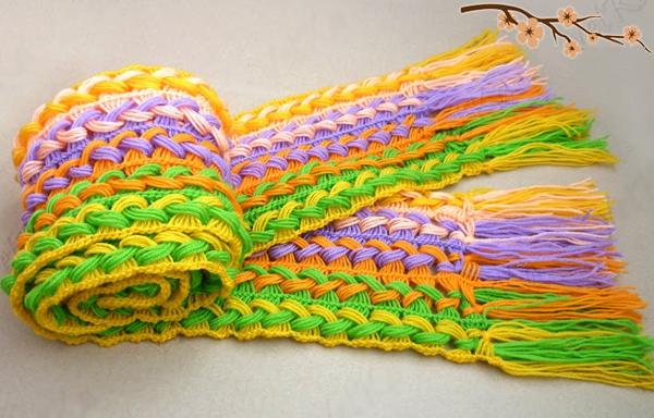 Học móc khăn len đơn giản cho những ngày trở lạnh 9