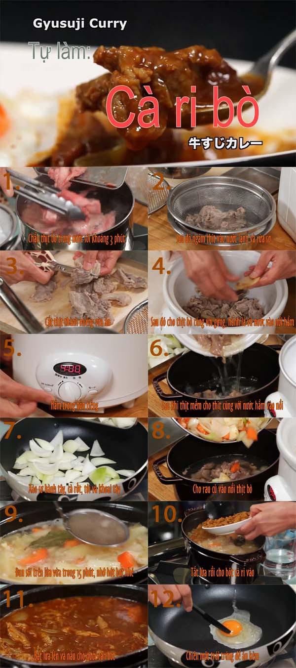 Mách bạn công thức cà ri bò Gyusuji thơm ngon của Nhật 1