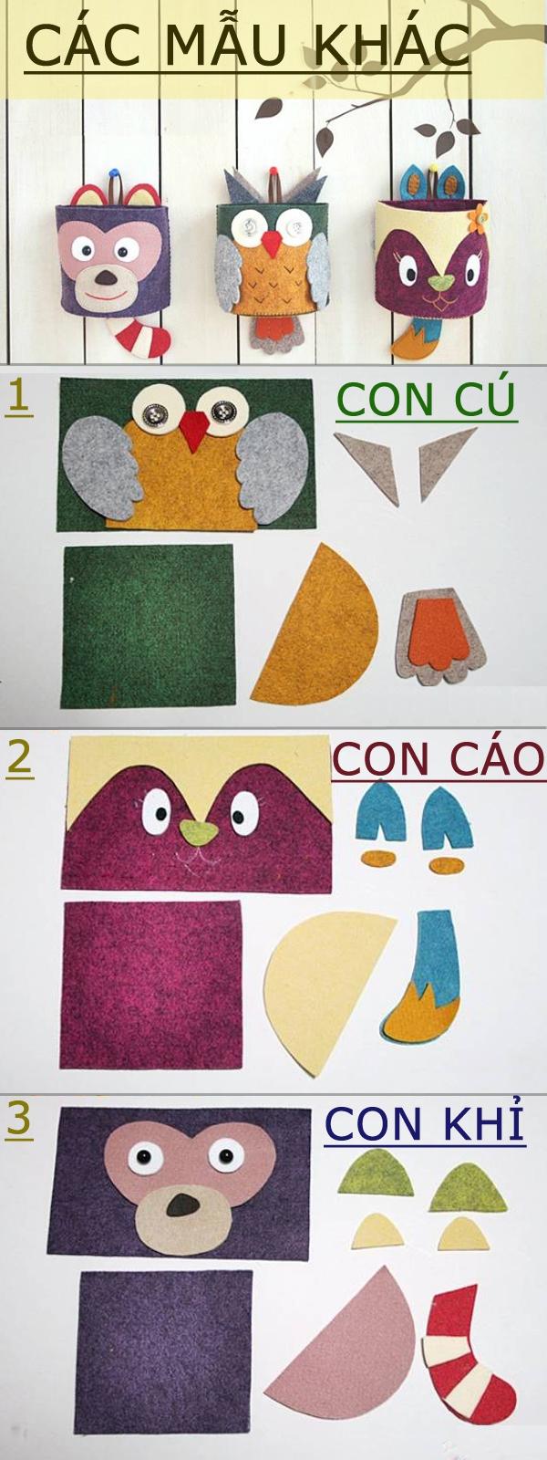Sưu tập cách làm các kiểu túi treo ngộ nghĩnh tiện ích 4