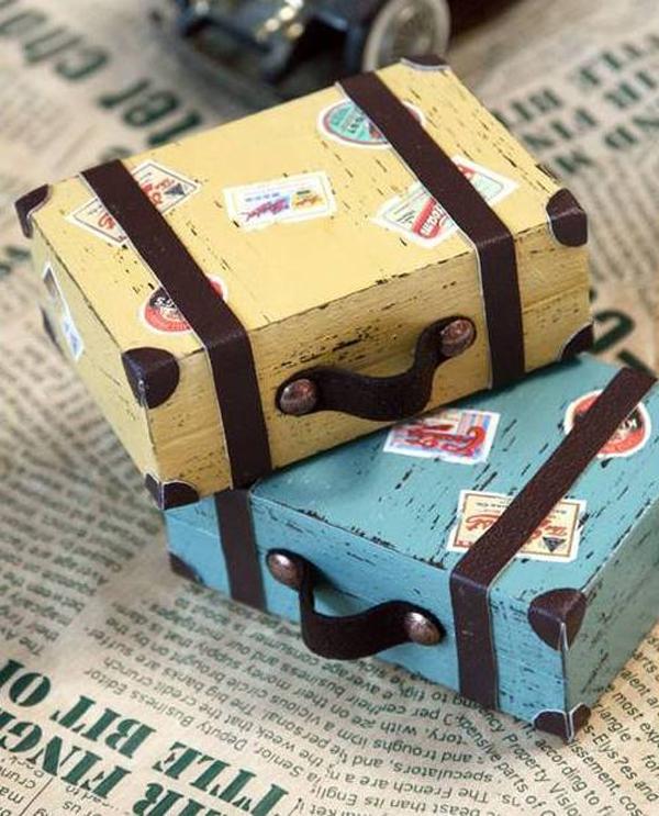 Как сделать чемодан из открыток, утро