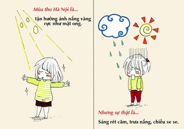 Tranh vẽ: Sự thật về mùa thu mà chỉ người Hà Nội mới hiểu 1