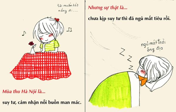 Tranh vẽ: Sự thật về mùa thu mà chỉ người Hà Nội mới hiểu 10