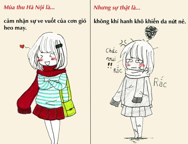 Tranh vẽ: Sự thật về mùa thu mà chỉ người Hà Nội mới hiểu 2