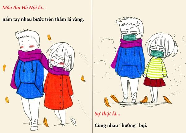 Tranh vẽ: Sự thật về mùa thu mà chỉ người Hà Nội mới hiểu 3