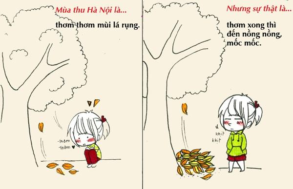 Tranh vẽ: Sự thật về mùa thu mà chỉ người Hà Nội mới hiểu 6
