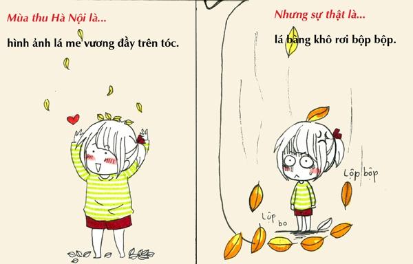 Tranh vẽ: Sự thật về mùa thu mà chỉ người Hà Nội mới hiểu 7