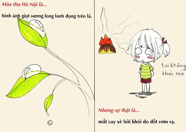 Tranh vẽ: Sự thật về mùa thu mà chỉ người Hà Nội mới hiểu 8