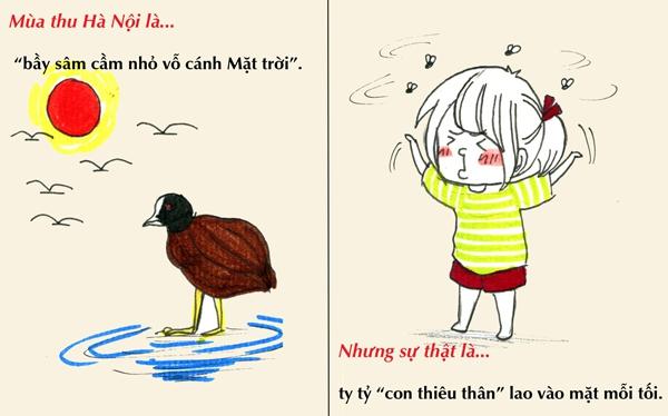 Tranh vẽ: Sự thật về mùa thu mà chỉ người Hà Nội mới hiểu 9