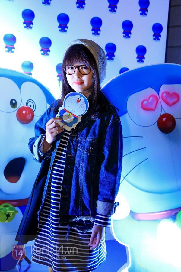 """Thùy Anh (Bộ tứ 10A8) xinh đẹp dự họp báo """"Doraemon"""" 9"""
