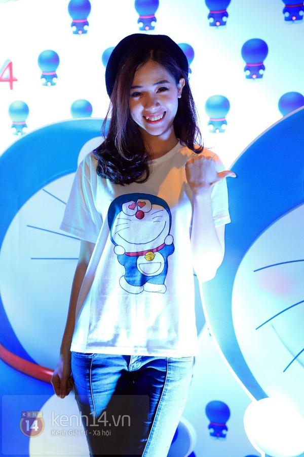 """Thùy Anh (Bộ tứ 10A8) xinh đẹp dự họp báo """"Doraemon"""" 10"""