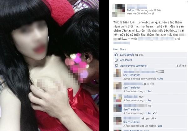 """Cô gái up ảnh bạn trai """"sờ soạng"""" lên FB: """"Mình thừa nhận có chụp bức ảnh đó"""" 1"""