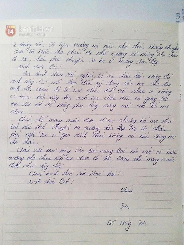 Xót xa trước bức thư của học sinh nghèo gửi Chủ tịch nước Trương Tấn Sang 2
