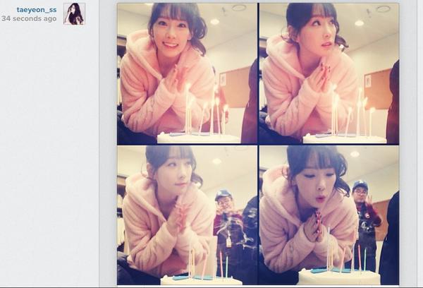 Sooyoung (SNSD) đăng ảnh Taeyeon xinh đẹp thổi nến mừng sinh nhật 2