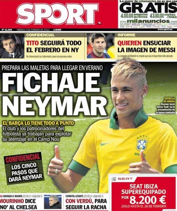 Báo chí TBN khẳng định Neymar sẽ tới Barca 1